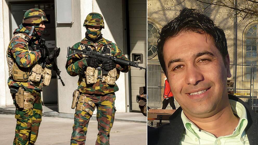 Mohamed Aziz Belkaid, som sköts till döds i en lägenhet i Bryssel några dagar före terrordåden levde tidigare några år i Sverige.