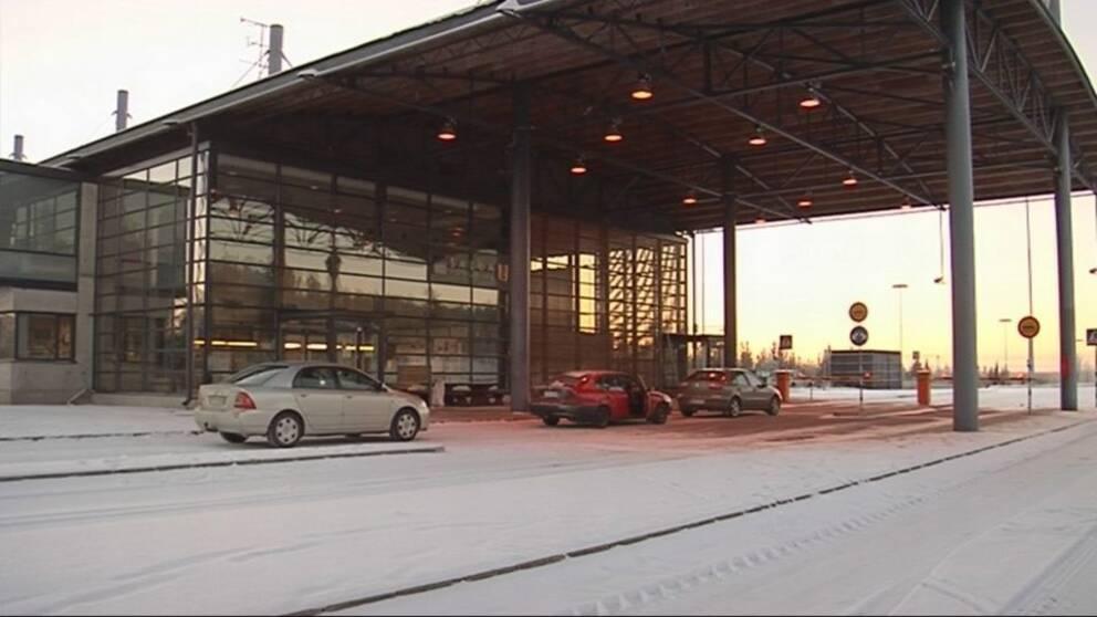 Gränsövergång i Salla mellan Finland och Ryssland