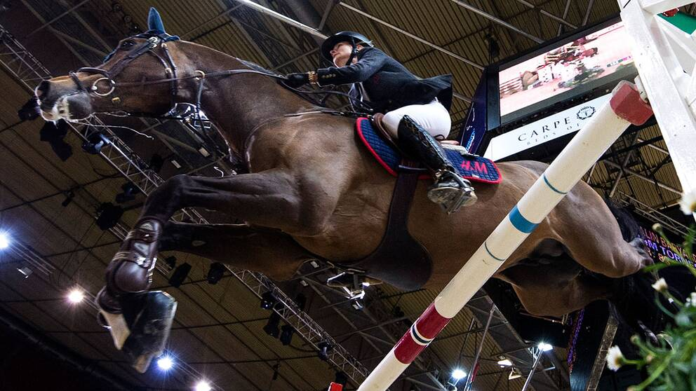 Malin Baryard-Johnsson på hästen Tornesch i Göteborg.