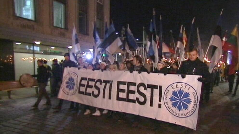 Många i Estland har protesterat mot flyktingarna trots det relativt låga antalet asylsökande.