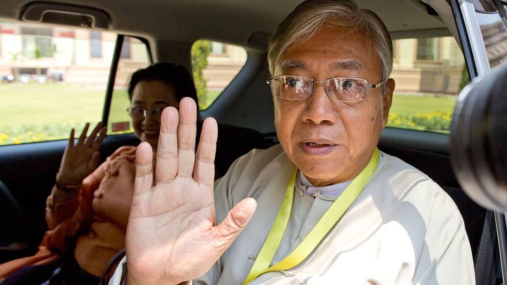 Htin Kyaw Burmas nye president.