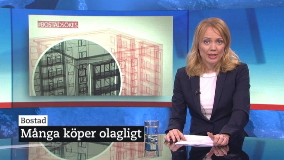Ett exempel på en anpassad nyhetssändning