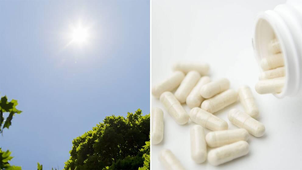 d vitamin på sommaren