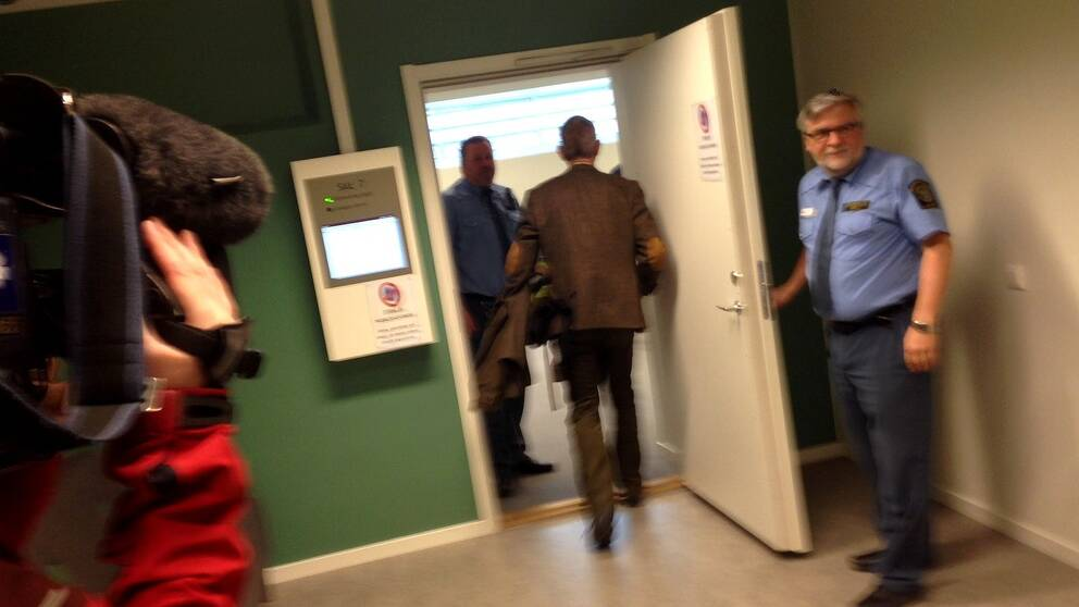 Dörr in till rättegångssal vid tingsrätten i Östersund