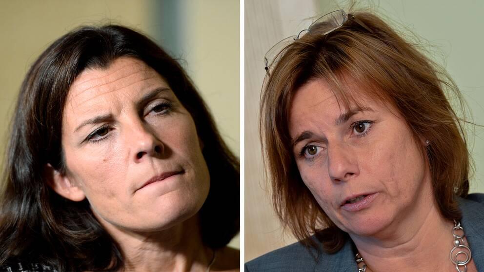 Karin Enström är kritisk till regeringen. Biståndsminister Isabella Lövin är oförstående.