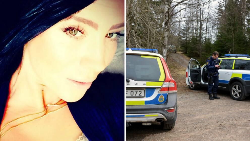 polisbilar under sök i skog utanför Stenungsund