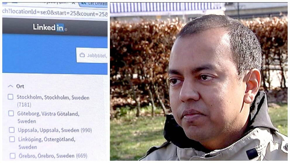 Syed Latif fick jobb via Linkedin, nu utvisas han.