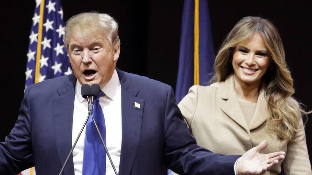 Melania Trump sätts nu in i maken Donalds valkampanj