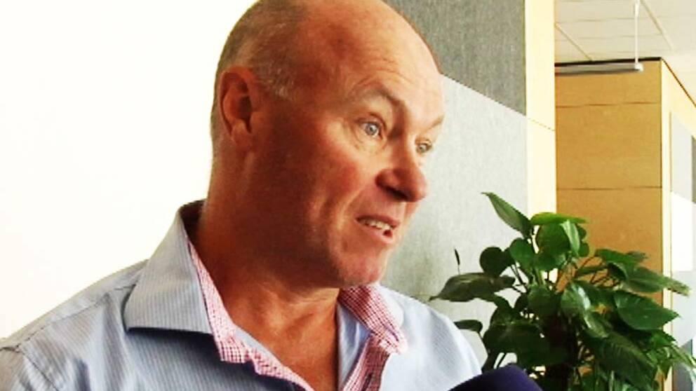 SVT:s tennisexpert Janne Gunnarsson.
