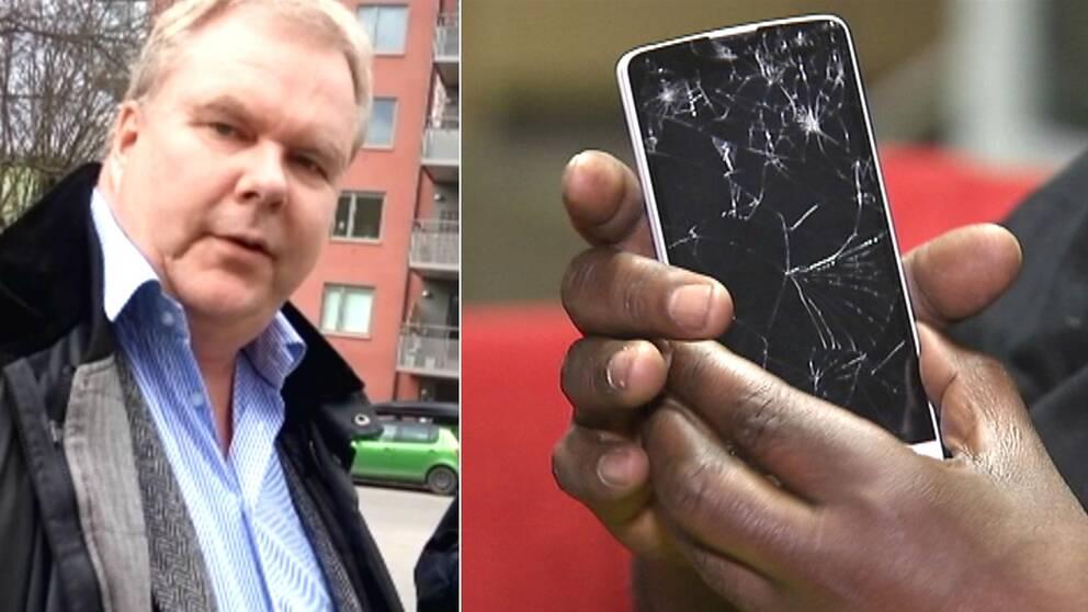 Claes Löfvenberg + trasig mobil