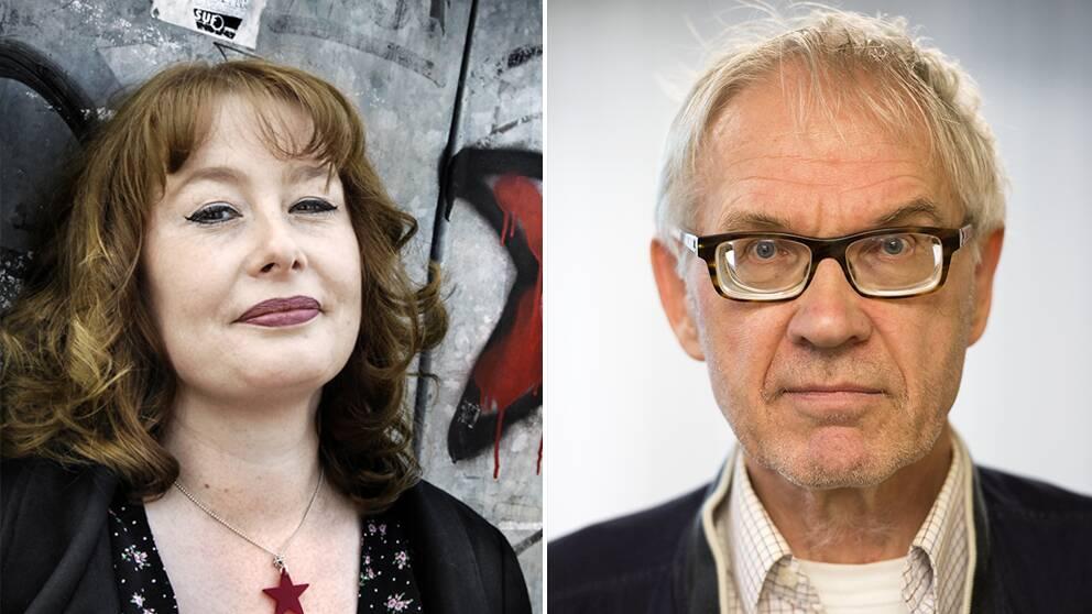 Porträttbild på Åsa Linderborg och Lars Vilks