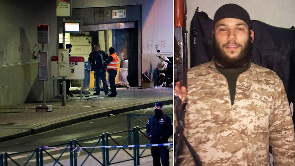 23-åriga Osama Krayem misstänks vara inblandad i terrordådet i Bryssels tunnelbana.