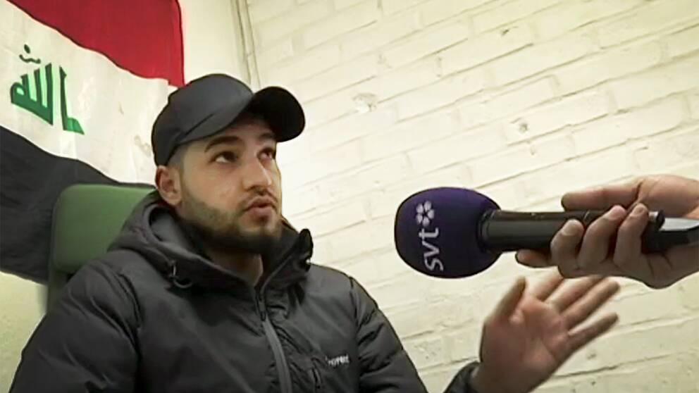 Khaled berätter för SVT Nyheter om hur han blivit föremål för terrorrekrytering.