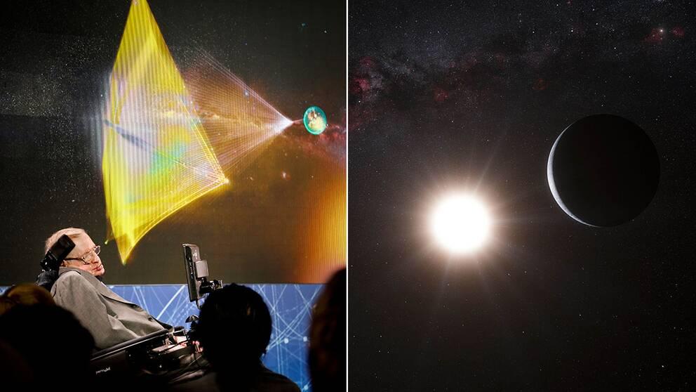 Stephen Hawking ska tillsammans med miljardärer skicka en liten rymdsond till Alpha Centauri-systemet 40 biljoner kilometer bort.