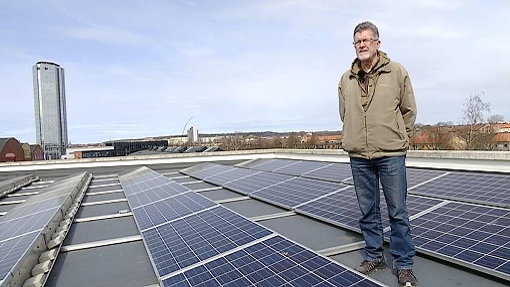 Göran Sidén på Högskolan i Halmstad forskar om förnybar energi.