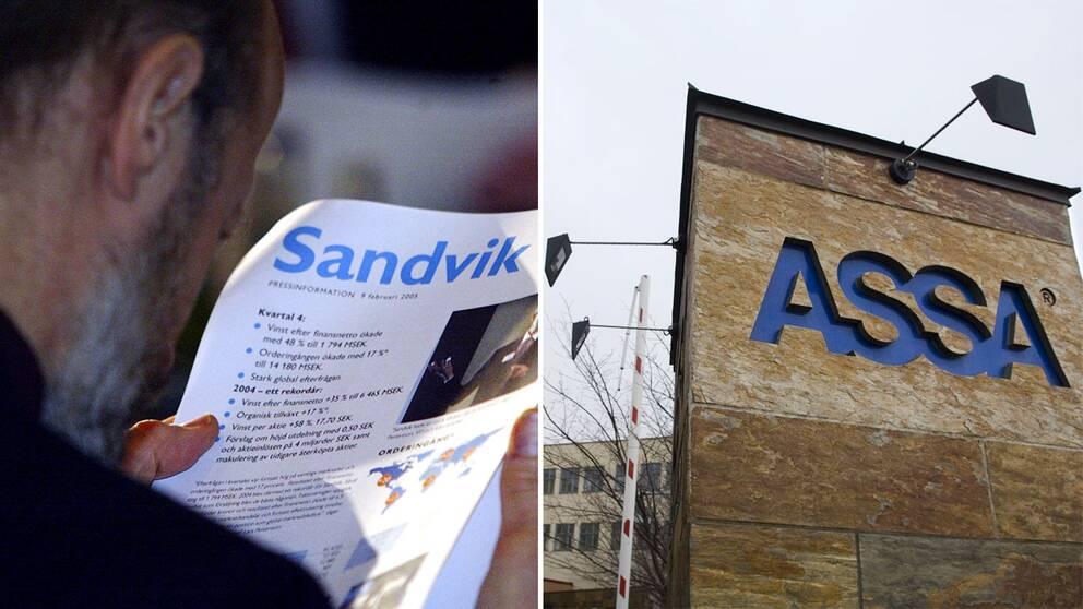 Sandvik och Assa.