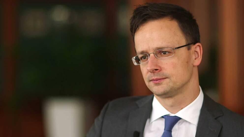 Ungerns utrikesminister Péter Szijjártó.