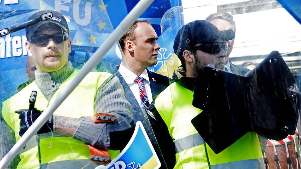 Stefan Jacobsson, tidigare partiledare för nazistiska Svenskarnas parti, är generalsekreterare för APF. Arkivbild.