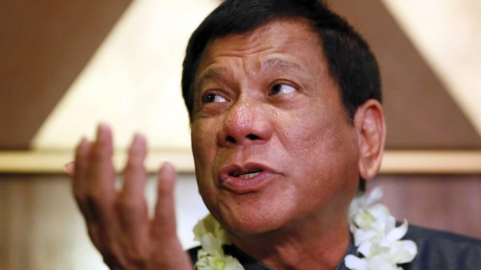 Rodrigo Duterte har offentligt skrutit om hur han deltagit i utomrättsliga avrättningar i hemstaden Davao. Arkivbild.