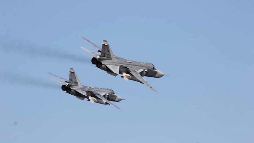 """I början av veckan anklagade USA ryskt militärflyg för en serie """"aggressiva"""" överflygningar mot en amerikansk jagare i Östersjön."""