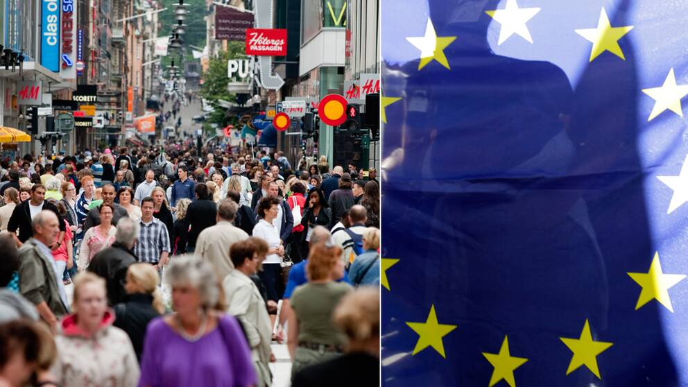Stödet för EU har minskat bland svenskarna.