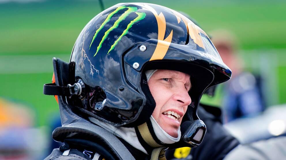 Regerande rallycrossvärldsmästaren Petter Solberg.