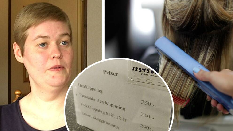 Angelica Arendell från Nybro är kritisk mot att det fortfarande är många frisörer som tar olika betalt för dam- och herrklippningar.