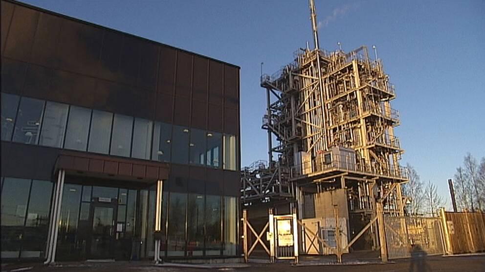 Anläggning för biodrivmedel i Piteå läggs ned.