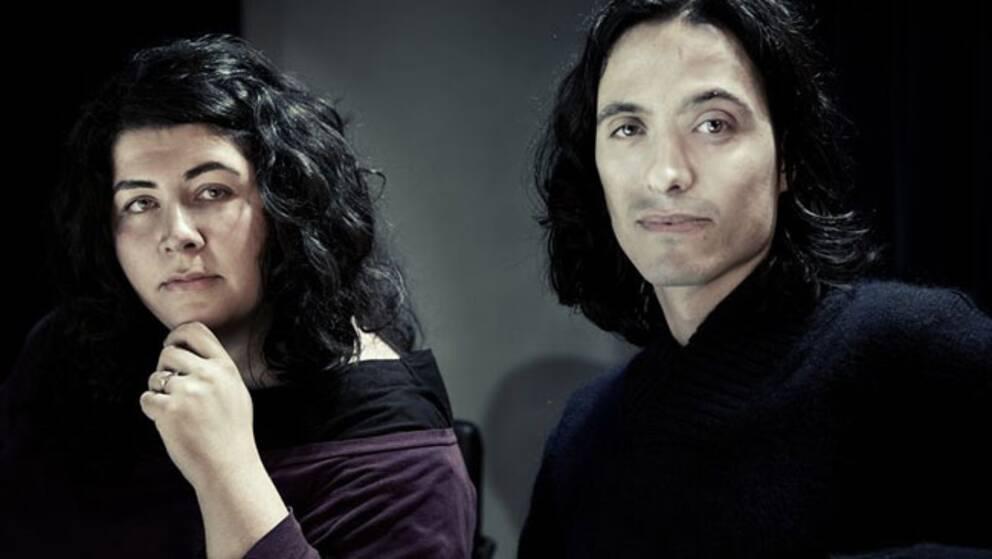 Regissören Farnaz Arbabi och manusförfattaren Jonas Hassen Khemiri.