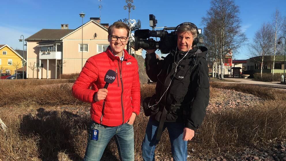 Jens L'Estrad och Anders Hellström är på plats i Älvdalen.