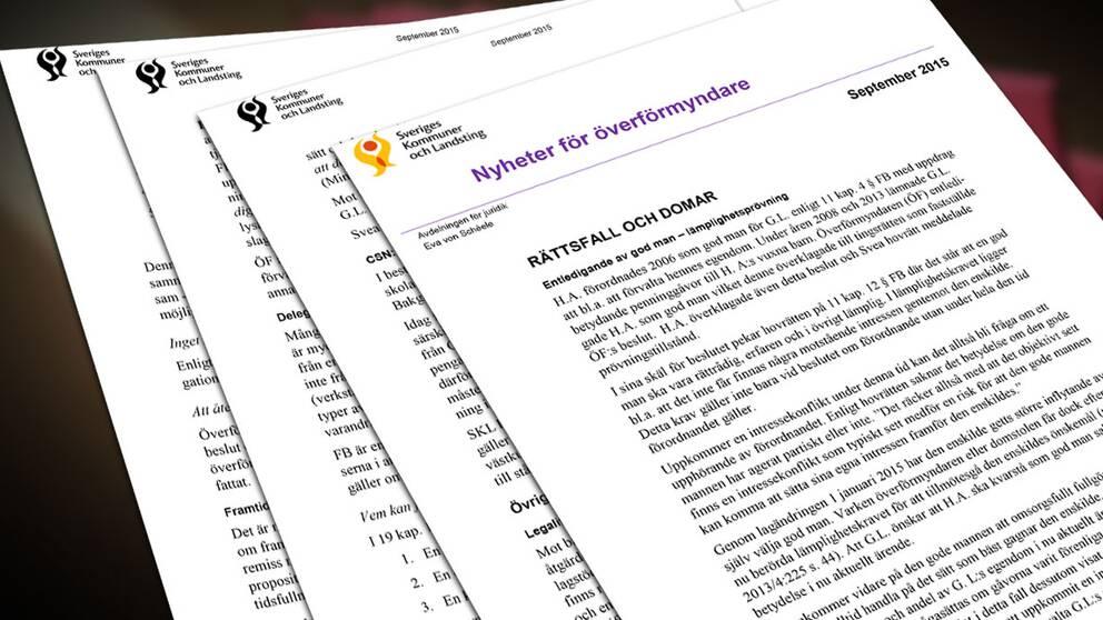 Brev från SKL till Sveriges kommuner. Fyra sidor i ett brev.