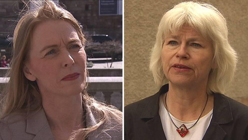 Pernilla Stålhammar (MP), bistånds- och säkerhetspolitiska talesperson och Karin Svensson-Smith (MP), trafikpolitiska talesperson