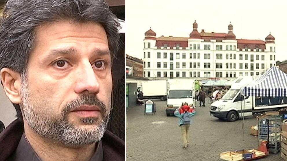 – Möllevångstorget är inte vad det var, säger Bob Alam.
