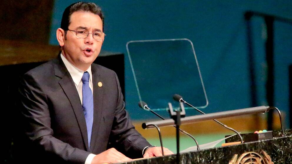 Jimmy Morales, Guatemalas president.