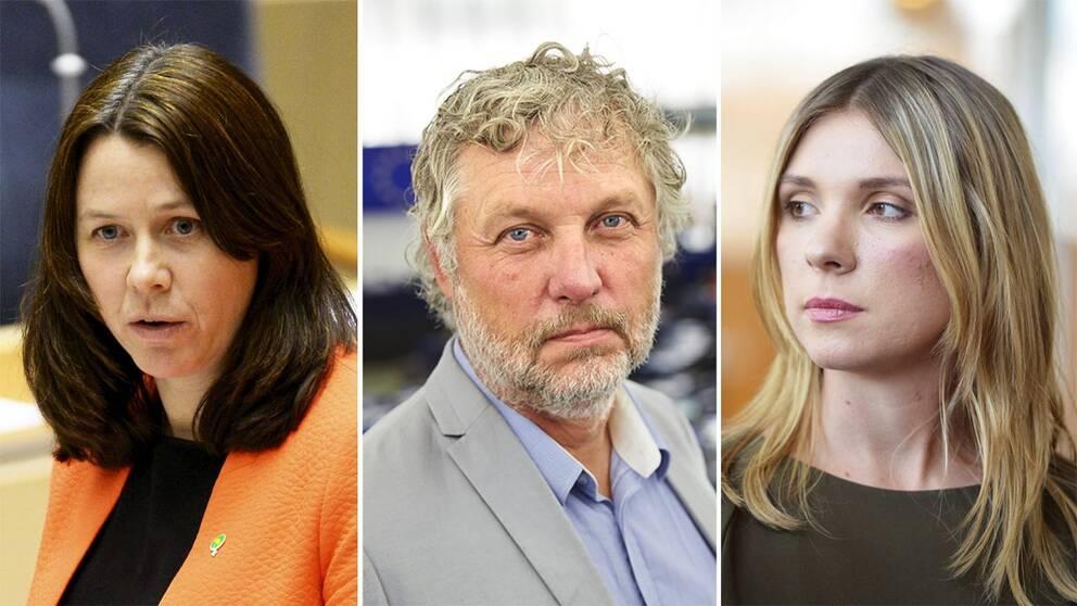 Åsa Romson, Peter Eriksson och Magda Rasmusson