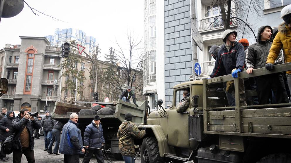 Militärfordon i Ukraina