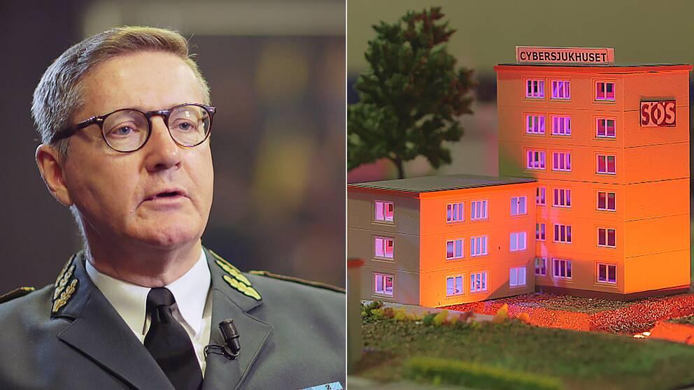 """Chefen för MUST, Gunnar Karlson, berättar för Agenda att försvarsmakten bygger en """"egen offensiv förmåga på cyberområdet""""."""