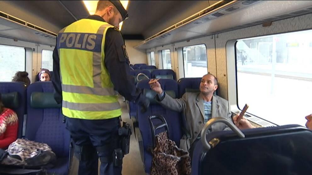 gränskontroll på tåg