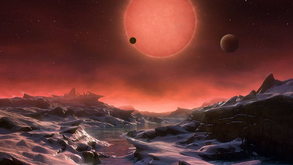 Illustration av nyfunnen planet.