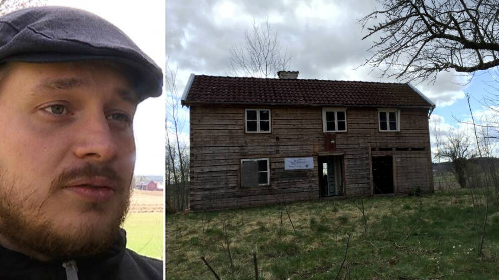 – Vi vill ha ett hus med lite själ och då tycker inte jag att ett fabriksbyggt hus är någonting att satsa på, då tar vi hellre ett sådant här hus, säger Jonas Andersson.