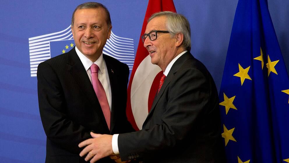 Erdogan och EU-kommissionens Jean-Claude Juncker