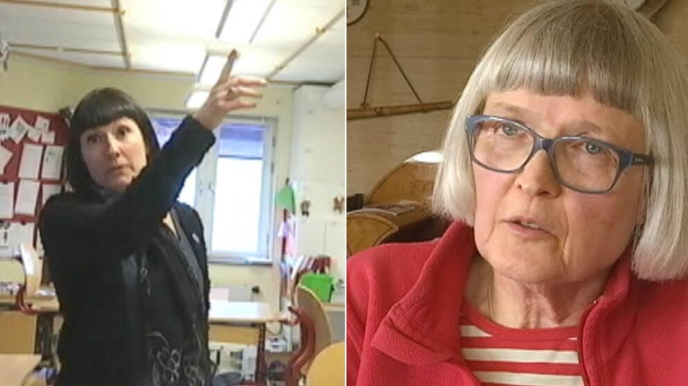 Rektorn Maria Gullquist och den varnade läkaren Ulrika Åberg.