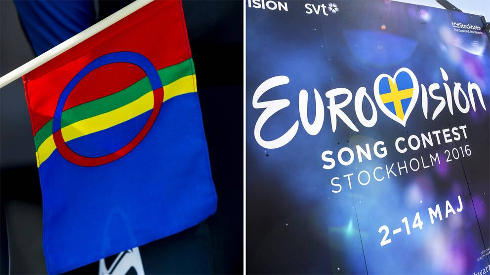 Samiska flaggan och Eurovison.