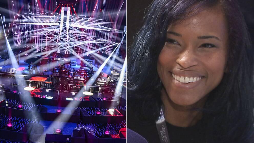 """Alesia Lucas har kommit från USA för att bevaka Eurovision: """"Mina vänner undrar vad jag håller på med""""."""