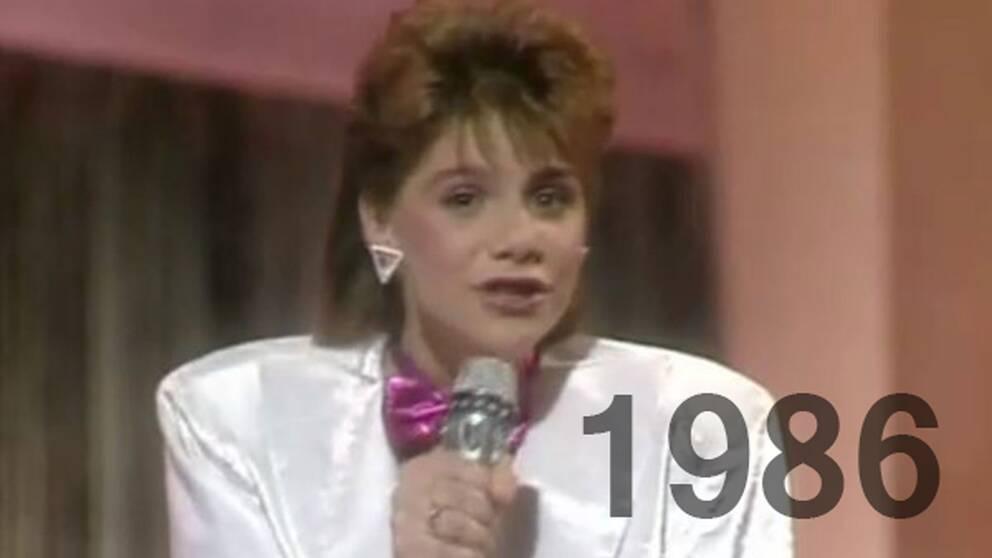 Sandra Kim tävlade för Belgien 1986.