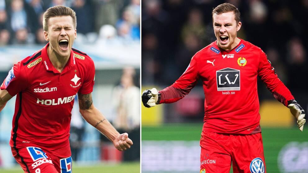 IFK Norrköpings Arnor Traustason och Hammarbys Ögmundur Kristinsson inbringar miljoner till allsvenskan.
