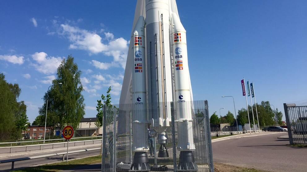 Rymdraket Ariane 5 i Linköping