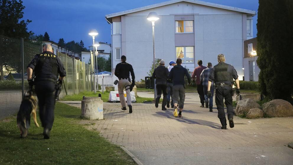 Efter knivdådet i Borås.