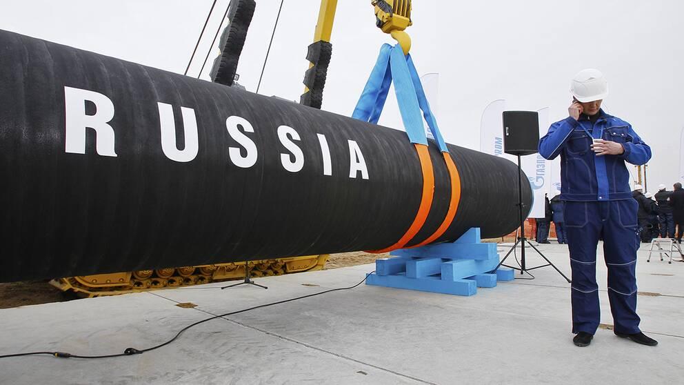 Arkivbild. Byggandet av naturgasledningen Nord Stream påbörjades i April, 2009.