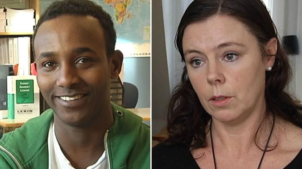 – Han fick avsluta som en brottsling trots att han är ödmjuk person, säger Erika Johannesson om Sharmaki Abubacar.